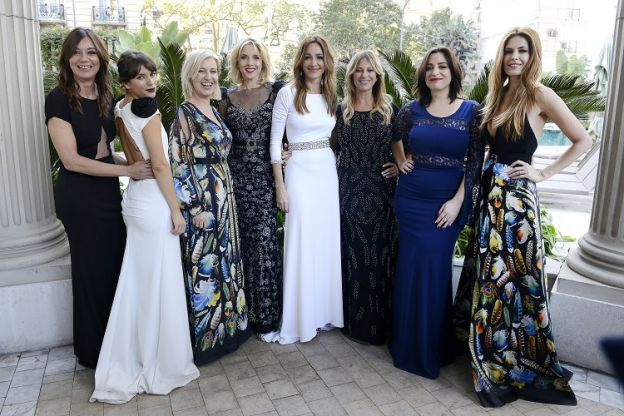Las principales bellezas del evento. Natalia Antolin, Jimena Accardi, Mercedes Morán, Carla Petersen, Verónica Lozano, Claudia Fontán, Muriel Santa Ana e Isabel Macedo.