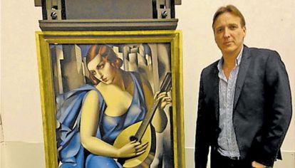 Detective. Arthur Brand junto a La música, de Lempicka.