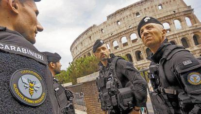 Roma. El Coliseo, uno de los lugares emblemáticos europeos que están bajo permanente vigilancia.