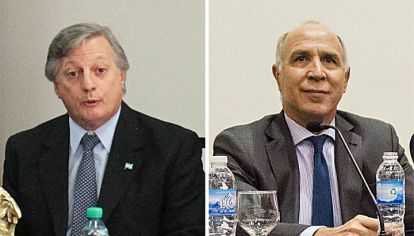 MENSAJE. El ministro Aranguren mostró respaldo con ex secretarios. Lorenzetti, en pleno análisis.