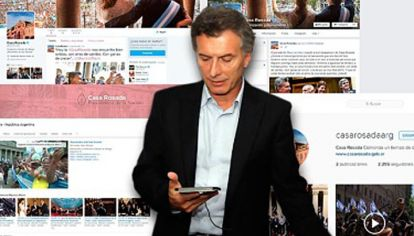 Atento. El presidente despliega sus mensajes en varias plataformas donde se muestra muy activo.
