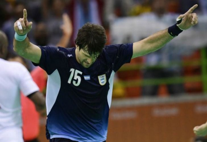 Gonzalo Carou, integrante del seleccionado argentina de handball