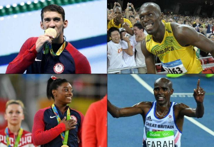 Los deportistas más destacados de los Juegos de Río.