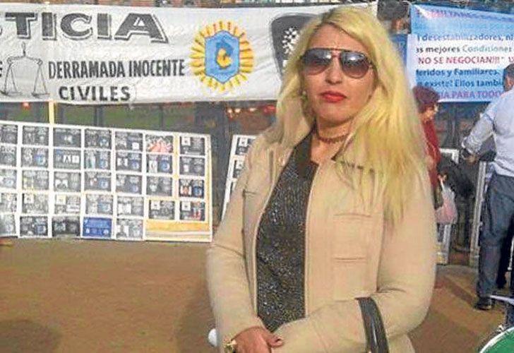 """Denunciante. La ex oficial Virginia Sosa dijo ante la fiscal que en los piedrazos a Macri, la Bonaerense """"falló intencionalmente""""."""
