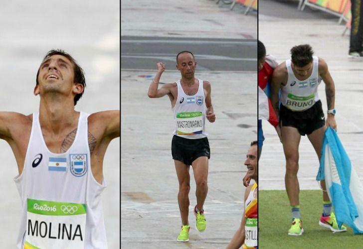 Mariano Mastromarino, Luis Molina y Federico Bruno