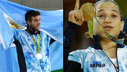 Juan Martín Del Potro y Paula Pareto emocionaron a todos con sus performances en Río 2016.