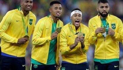 Brasil, oro en el fútbol en Río