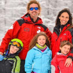 Facundo Arana y su familia en Chapelco.