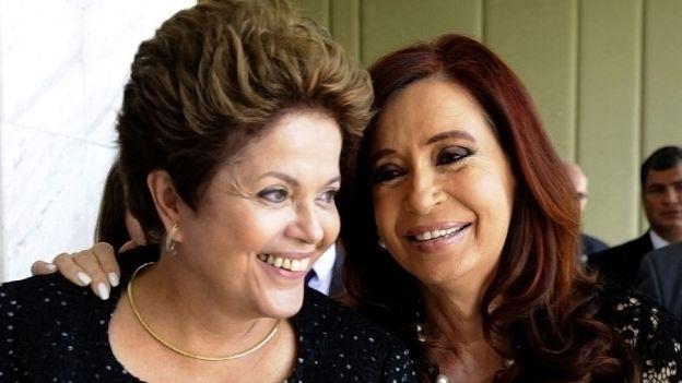 Cristina manifestó públicamente su apoyo a Dilma.