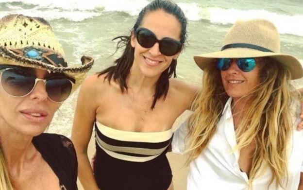 Milagros Brito, Agustina Lecouna e Isabel Macedo, amiguísimas.