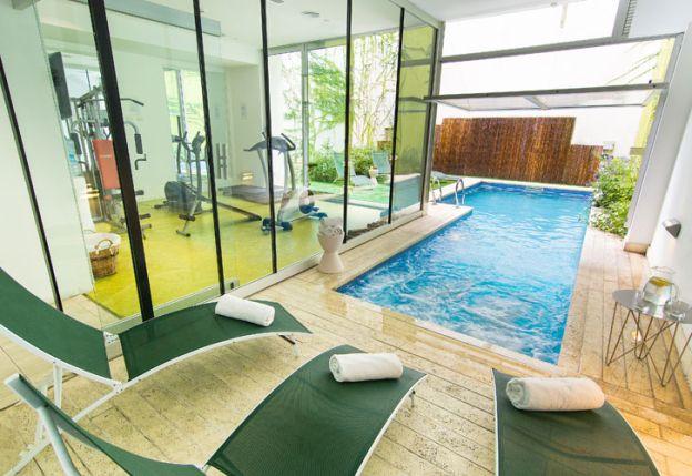La piscina y el spa de Vitrum Hotel Boutique.
