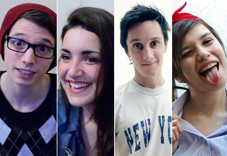Pablo Agustín, Bárbara Martínez, Nicolás Ortíz y Micaela Suárez, los youtubers del momento.