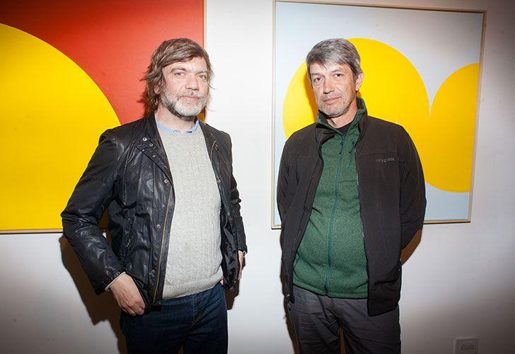 Los artistas Beto De Volder y Andrés Sobrino.