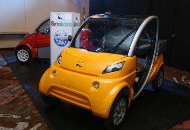 El Seroelectric es un vehículo 100% eléctrico de industria argentina. Posee una autonomía de 65 km.