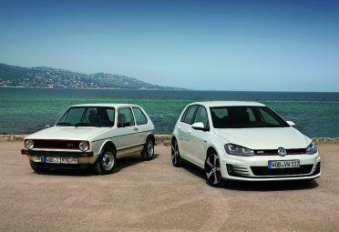 El primero y el útimo VW Golf GTI. Cuarenta años, siete generaciones.