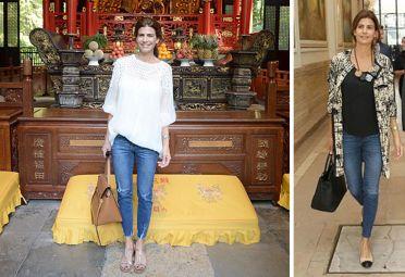No oficiales. Juliana elige también el jean para los actos de carácter social: en sus viajes al NOA o actividades en la residencia de Olivos. | Foto: Cedoc