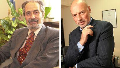 Enfrentados. El camarista Edmundo Hendler (izq.) encabezó la denuncia contra el juez en lo penal económico López Biscayart.