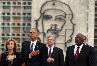 Barack Obama en su visita a Cuba este año.