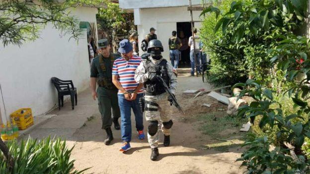 Fito es detenido en un pueblo al sur de Cosquín, en Córdoba. Gentileza: El Puntal