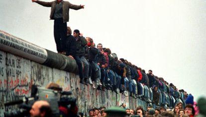 La Potsdamer Platz el 9 de noviembre de 1989.