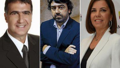 Antonio Laje, Juan Cruz Avila y Liliana Parodi.