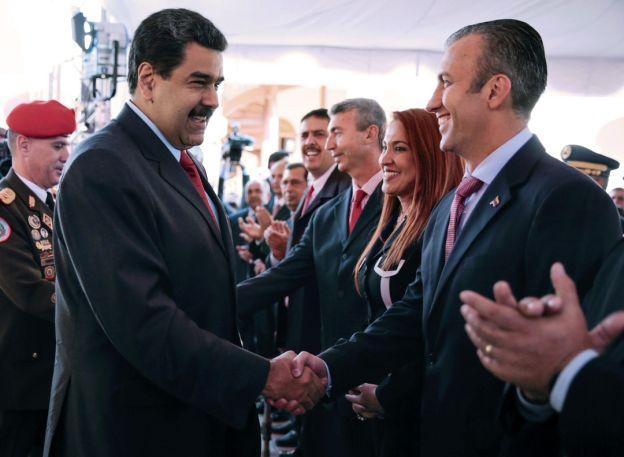 Maduro y su nuevo Vice, Tareck El Aissami, un chavista duro.