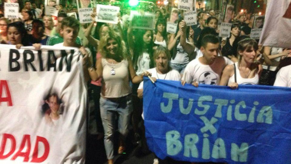 Nueva marcha en reclamo de justicia para Brian Aguinaco