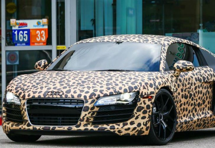 justin bieber audi leopard - photo #22