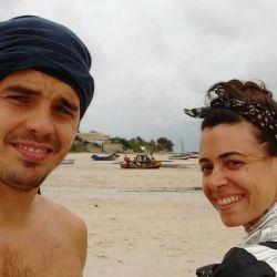 Benjamin Rojas y su novia