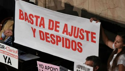"""La """"otra"""" Argentina protestó contra el presidente."""