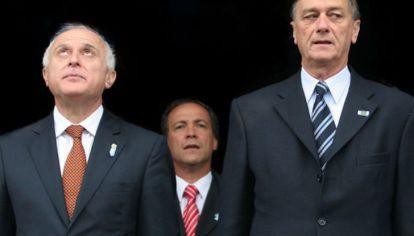 Los tres referentes del partido Socialista en un acto provincial.