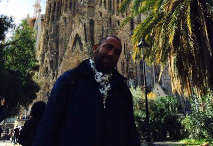 Hilario Bacca en un viaje que hizo a Barcelona.