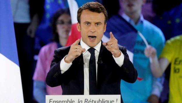 El candidato de En Marche!, Emmanuel Macron