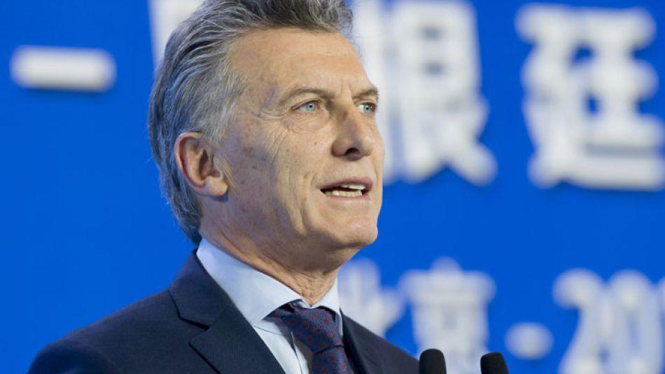 Macri expuso hoy en la clausura del Foro de Negocios e Inversiones Argentina-China que se realizó en Beijing.