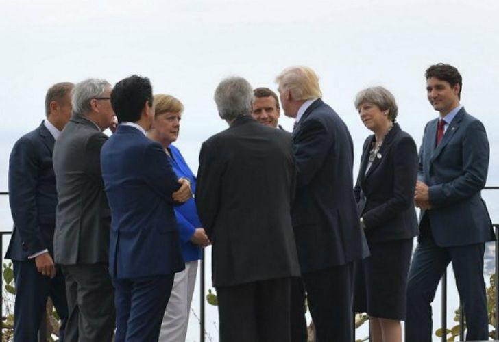 Los líderes del G7 reunidos en Taormina