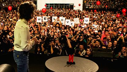 Seguidores. La presentación de Eleven despertó pasiones desatadas en el público.