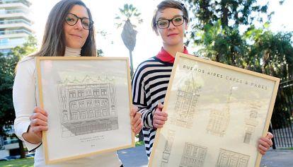 Baires baires. Hacen postales y cuadros con planos de construcciones porteñas.