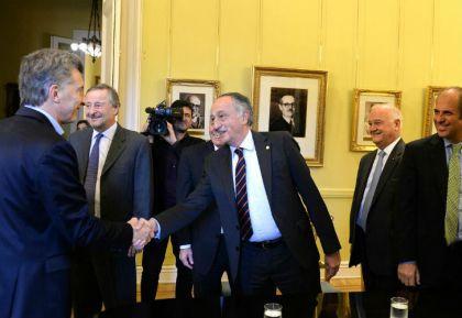 Macri con empresarios