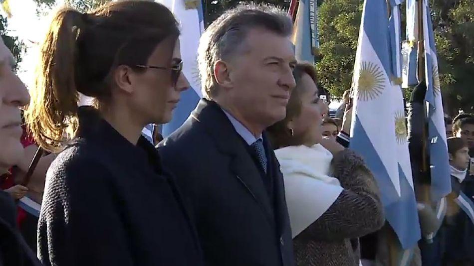 Macri, en el acto del Día de la Bandera, en Rosario