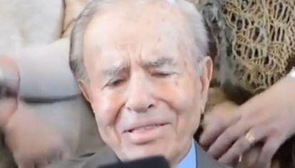 El candidato a senador se emocionó al recordar su primer acercamiento al peronismo.