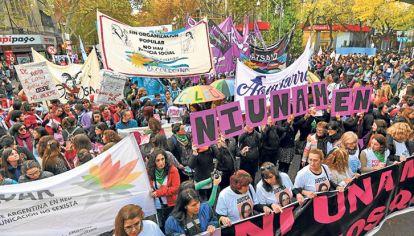 Ni una menos. Las multitudinarias marchas lograron visibilizar la violencia de género.