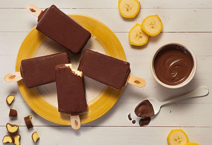 Bananita. La clásica golosina de los 80 se reconvierte en una moderna paleta helada.