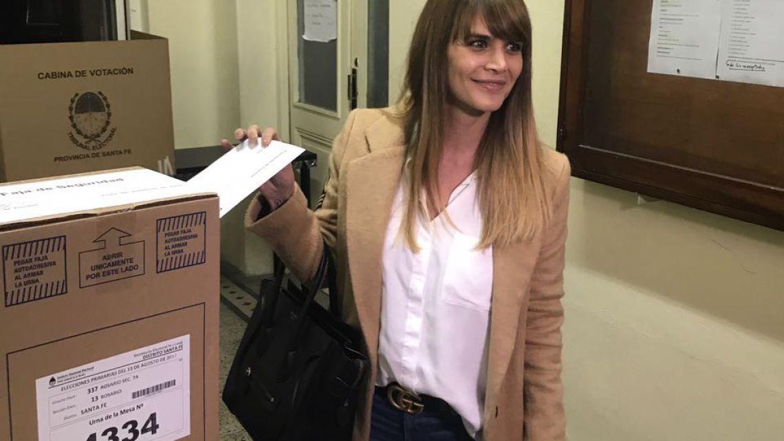 Amalia Granata en pleno acto electoral | Foto:CEDOC