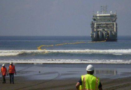 Todo el cableado de internet llega a Argentina a través de Las Toninas