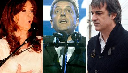 Cristina Kirchner, Sergio Massa y Esteban Bullrich