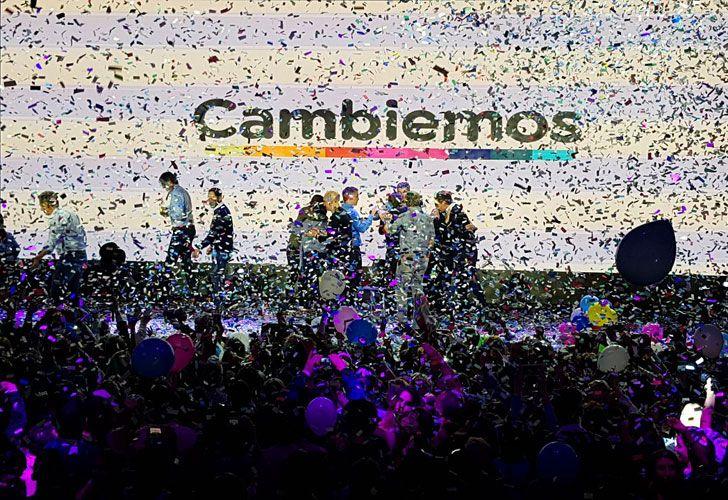 Festejos en el bunker de Cambiemos