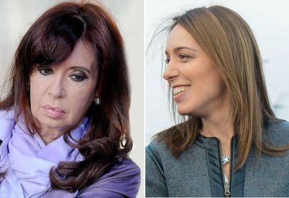 Cristina Fernández de Kirchner y María Eugenia Vidal.