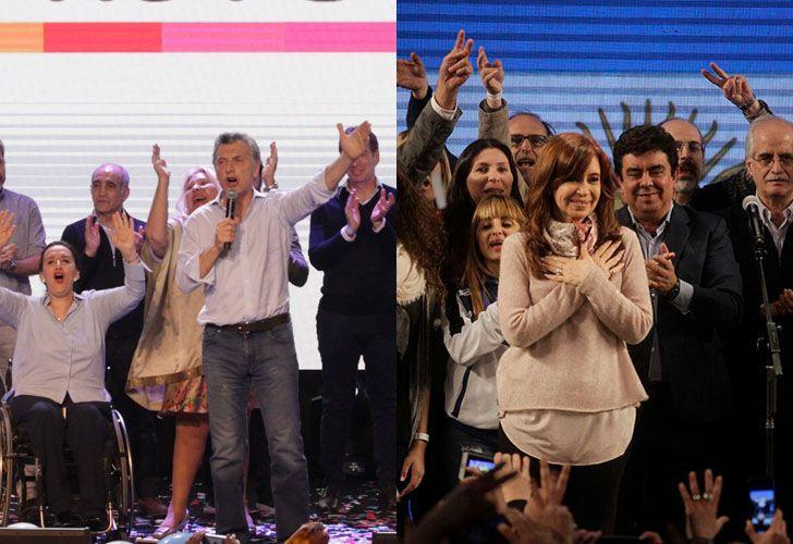 Cambiemos festejó el resultado antes de medianoche. Cristina celebró a las cuatro de la mañana, cuando achicó la diferencia con el oficialismo.