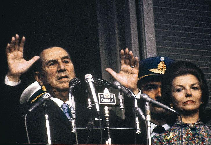Perón en su último discurso.