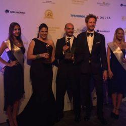 Verónica Sevilla Gerente General de Quito Turismo; Alavaro Maldonado Secretario de Desarrollo Productivo y Competitividad y Sion rapson Organizador de los World Travel Awards